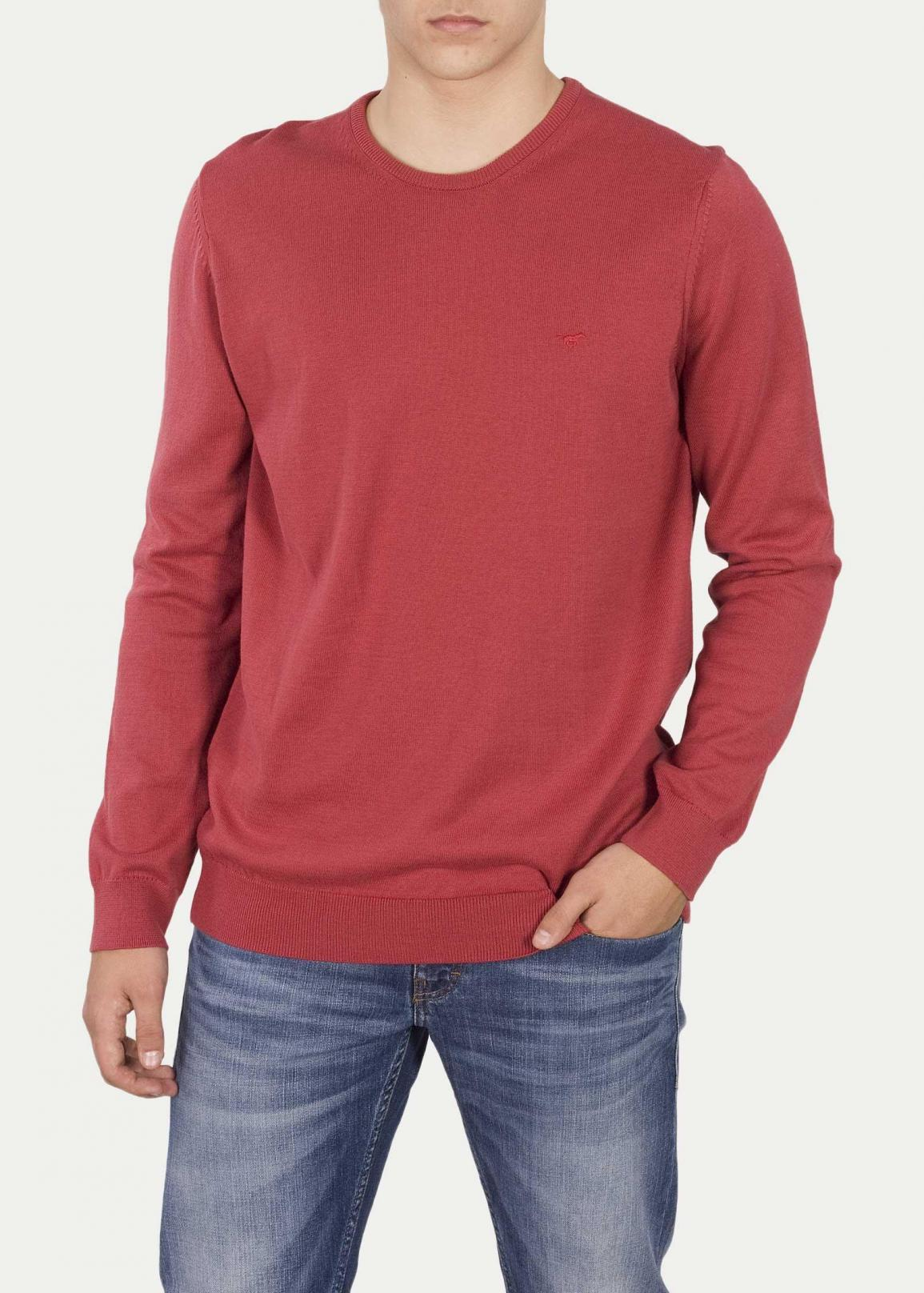 Mustang® Basic C-Neck Jumper - Garnet