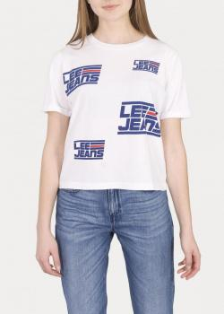 Lee® Cropped Graphic Tee - Bright White