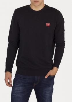 Wrangler® Sign Off Crew Sweater - Black