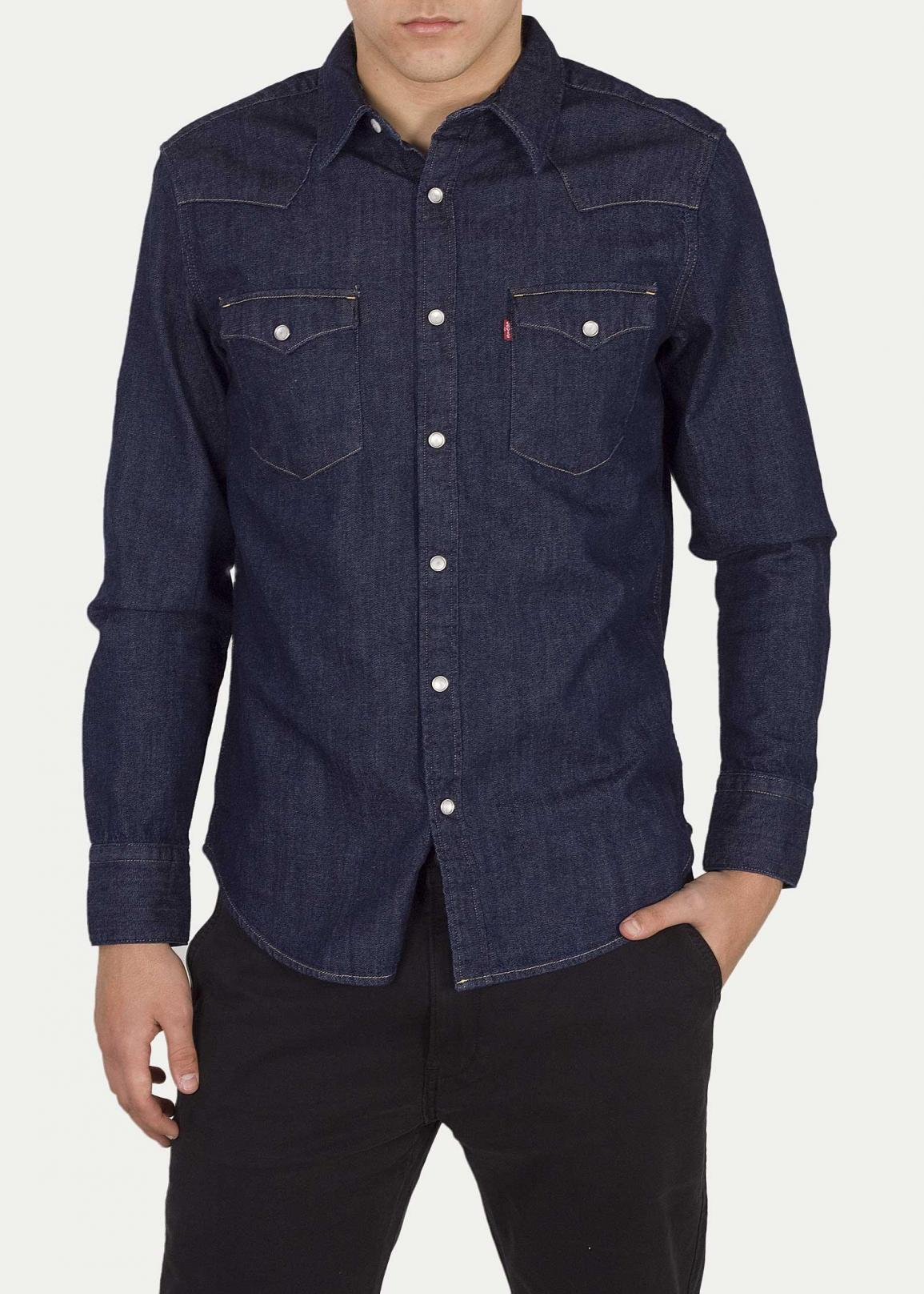 Levi's® Barstow Western Standard Red Cast - Rinse Marbled T2
