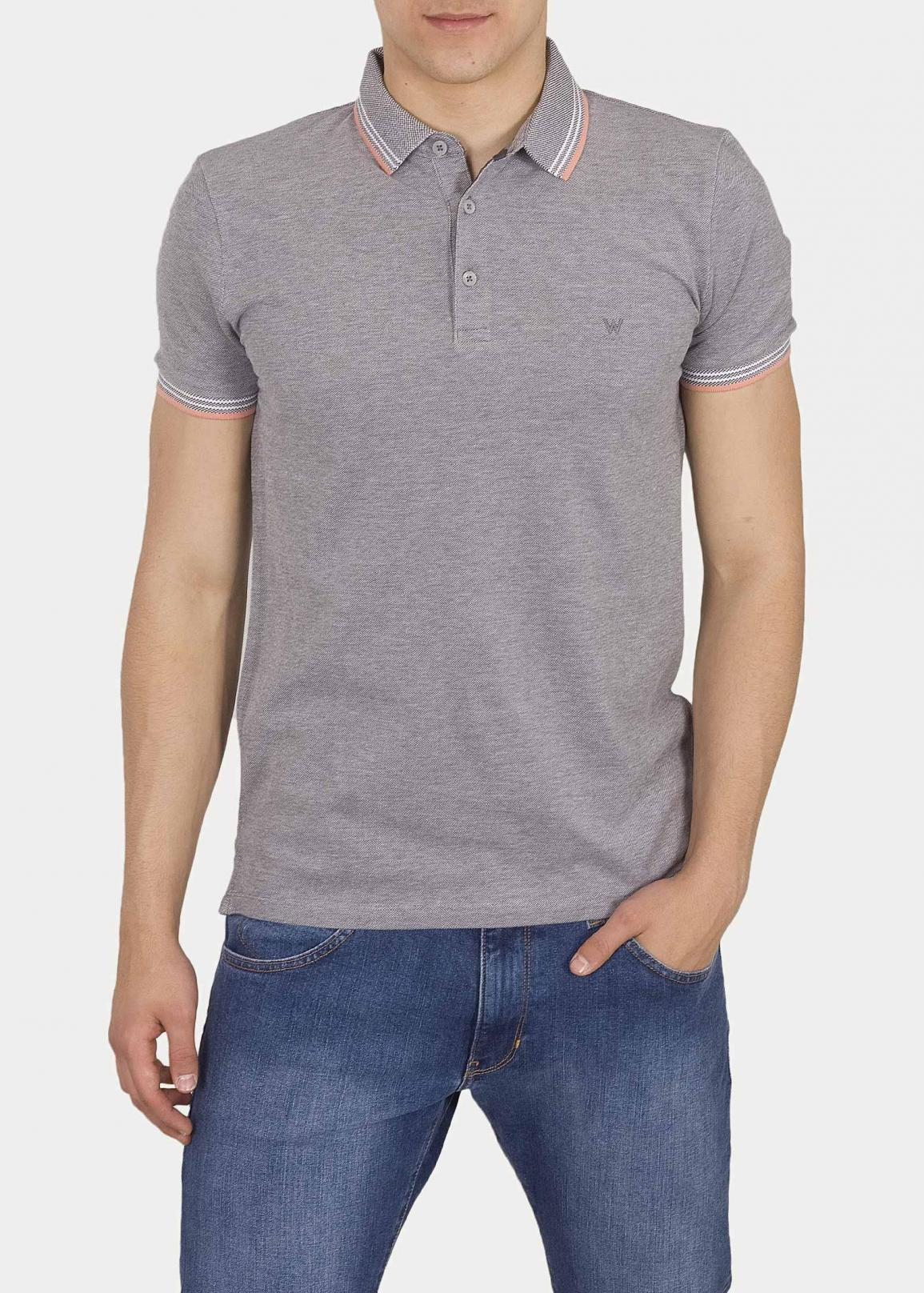 Wrangler® SS Refined Polo - Cold Gray
