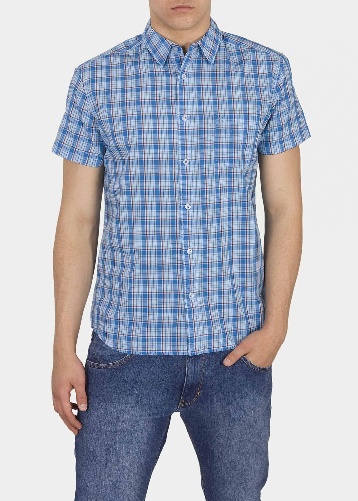 Wrangler® Short Sleeve 1 Pocket Shirt - Cerulean Blue