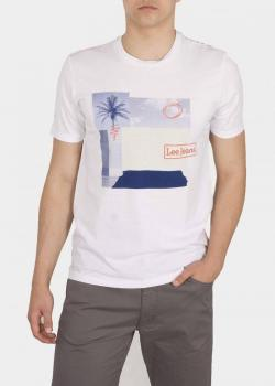 Lee® Botanical Print Tee - Bright White
