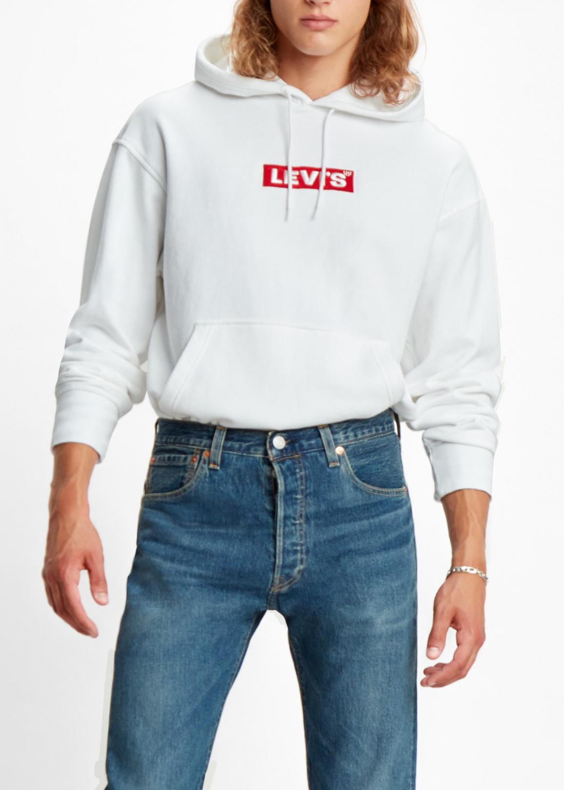 Levi's® Relaxed Graphic Hoodie - Boxtab Po White