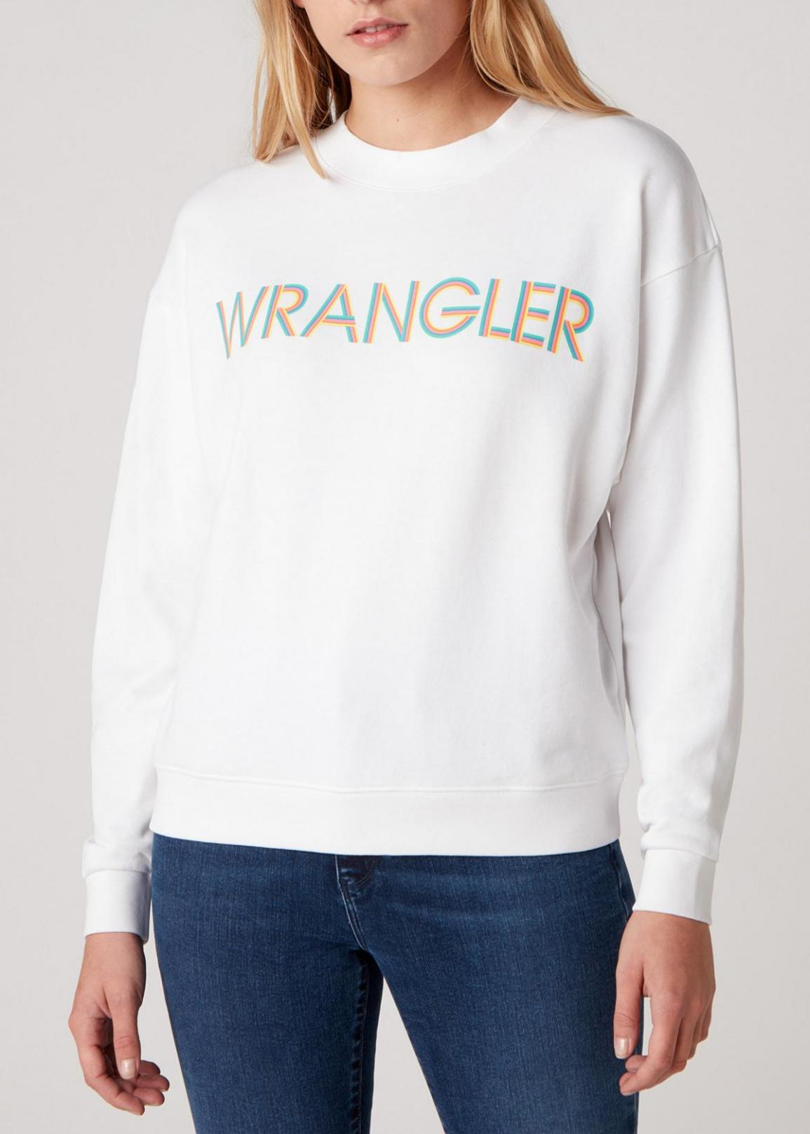 Wrangler® Retro Logo Sweater - White