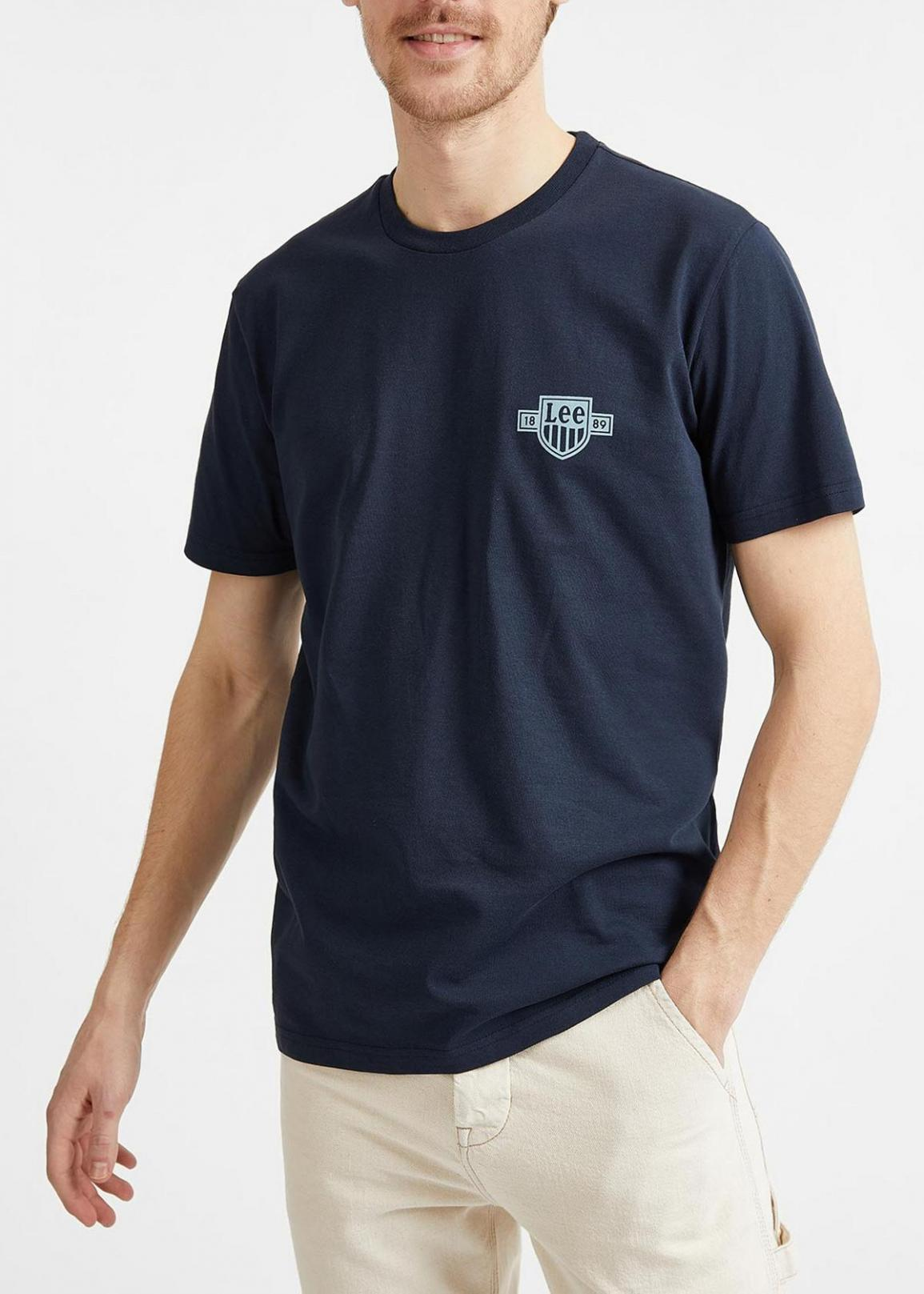 Lee® Chest Logo Tee - Sky Captain