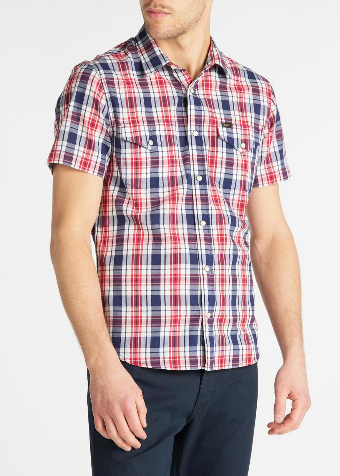 Lee® Short Sleeve Western Shirt - Blueprint