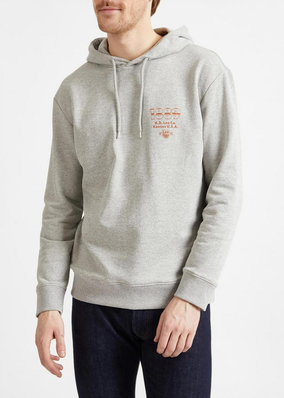 Lee® Seasonal Logo Hoodie - Grey Mele