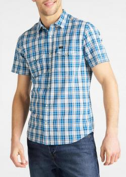 Lee® Short Sleeve Western Shirt - Dipped Blue