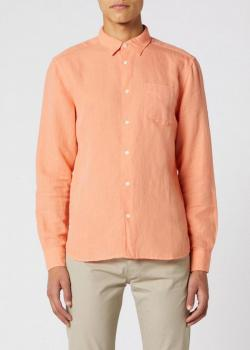 Wrangler® Long Sleeve 1 Pocket Shirt - Melon Orange