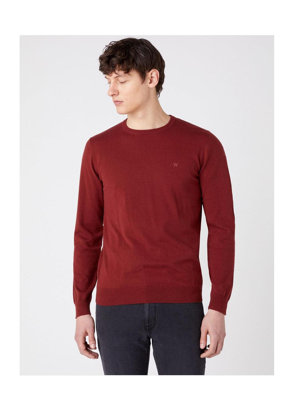 Wrangler® Crewneck Knit - Rusty Brown