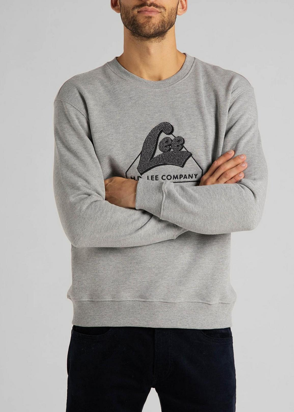 Lee® Tonal Graphic Sweatshirt - Grey Mele