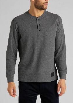 Lee® Double Face Henley Tee - Dark Grey Mele