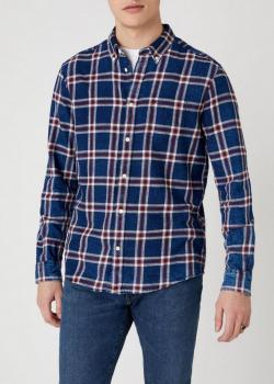 Wrangler® Long Sleeve One Pocket Shirt - Mars Red