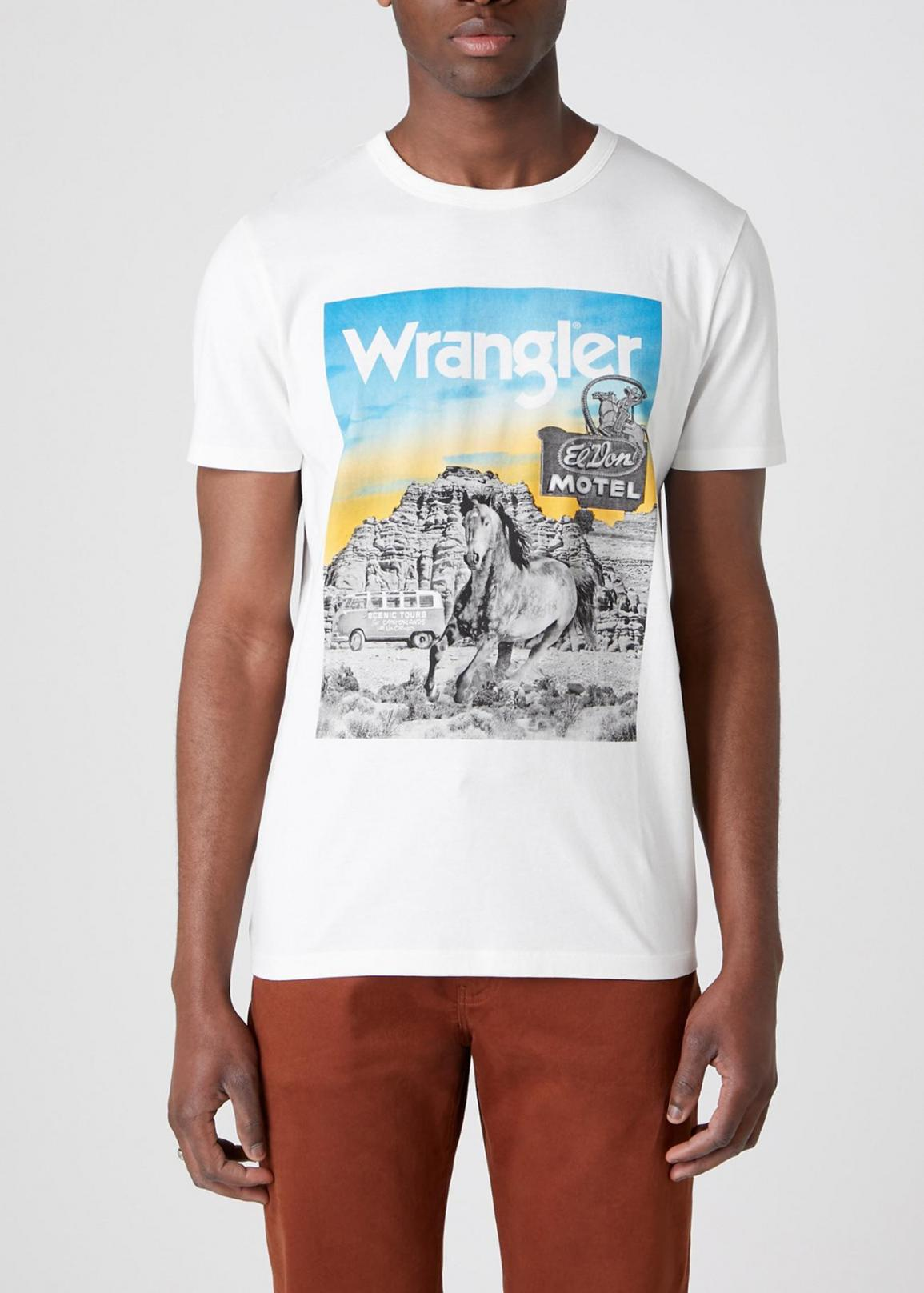 Wrangler® Short Sleeve Photo Tee - Off White