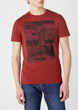 Wrangler® Short Sleeve Motel Tee - Rusty Brown
