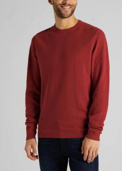 Lee® Basic Textured Crew - Red Ochre