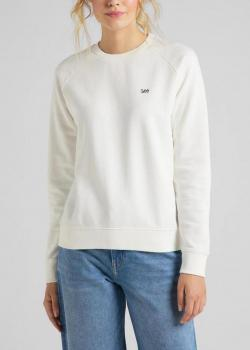 Lee® Plain Crew Neck Sweatshirt - White Canvas