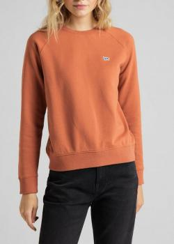 Lee® Plain Crew Neck Sweatshirt - Burn Ocra
