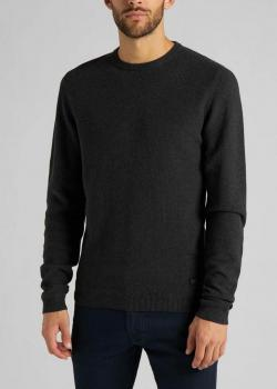 Lee® Basic Textured Crew - Dark Grey Mele