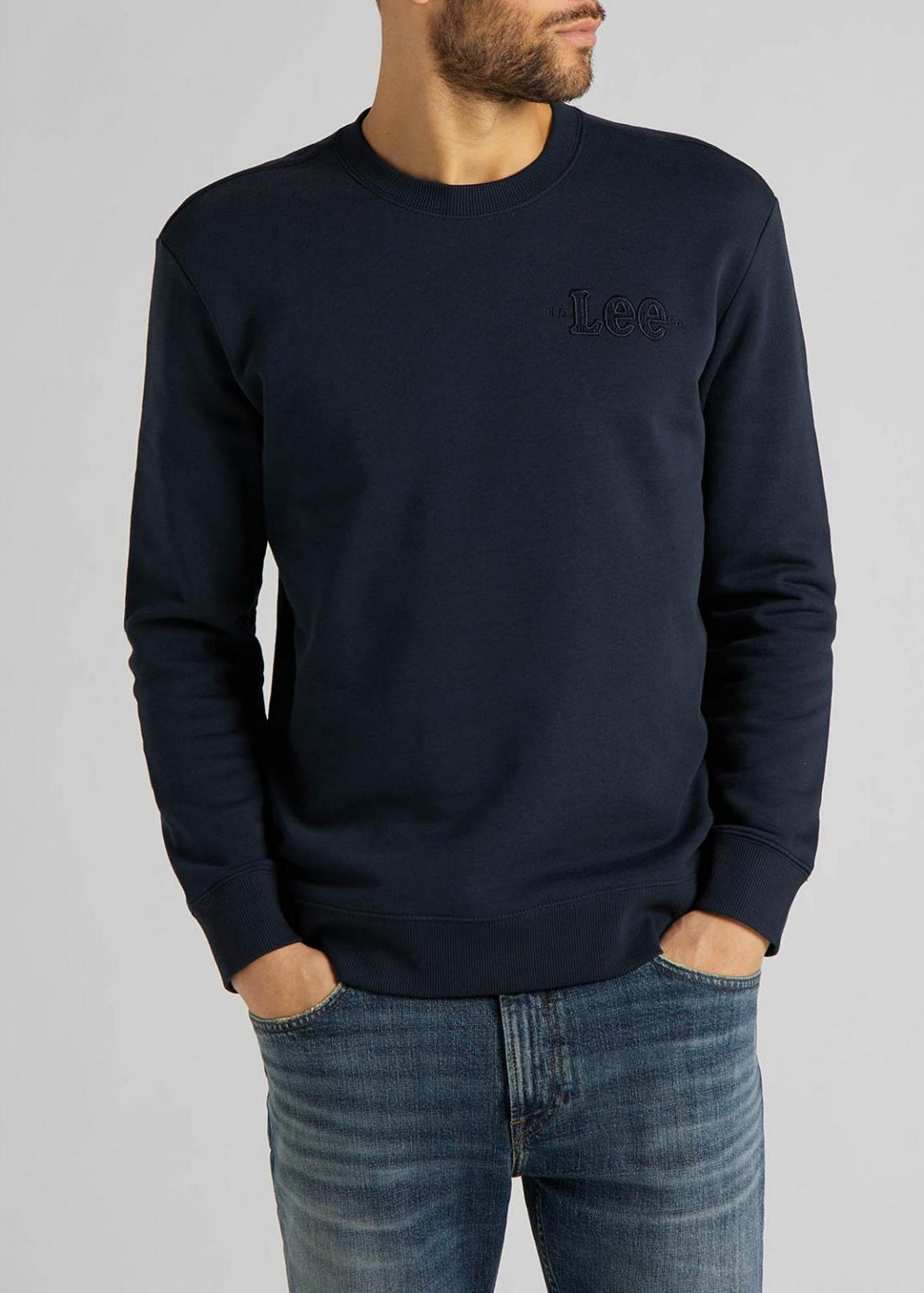 Lee® Refined Applique Sweatshirt - Sky Captain