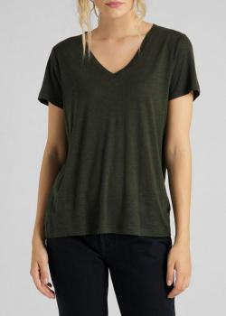 Lee® V Neck Tee - Serpico Green