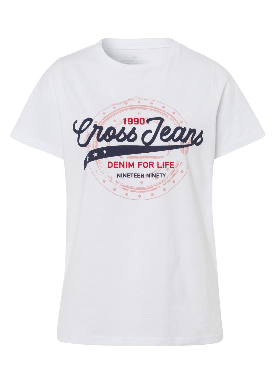 Cross Jeans® Logo T-Shirt - White (008)
