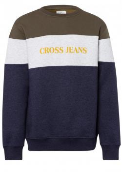 Cross Jeans® Logo Sweatshirt - Navy Melange (197)