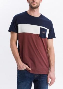 Cross Jeans® One pocket tshirt - Navy