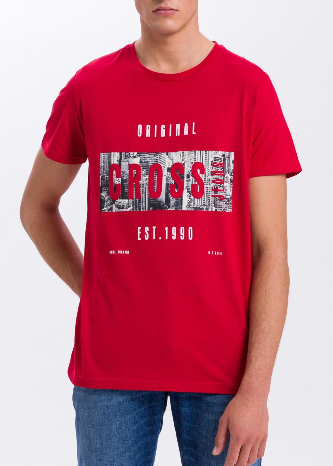 Cross Jeans® Logo T-Shirt - Red (007)