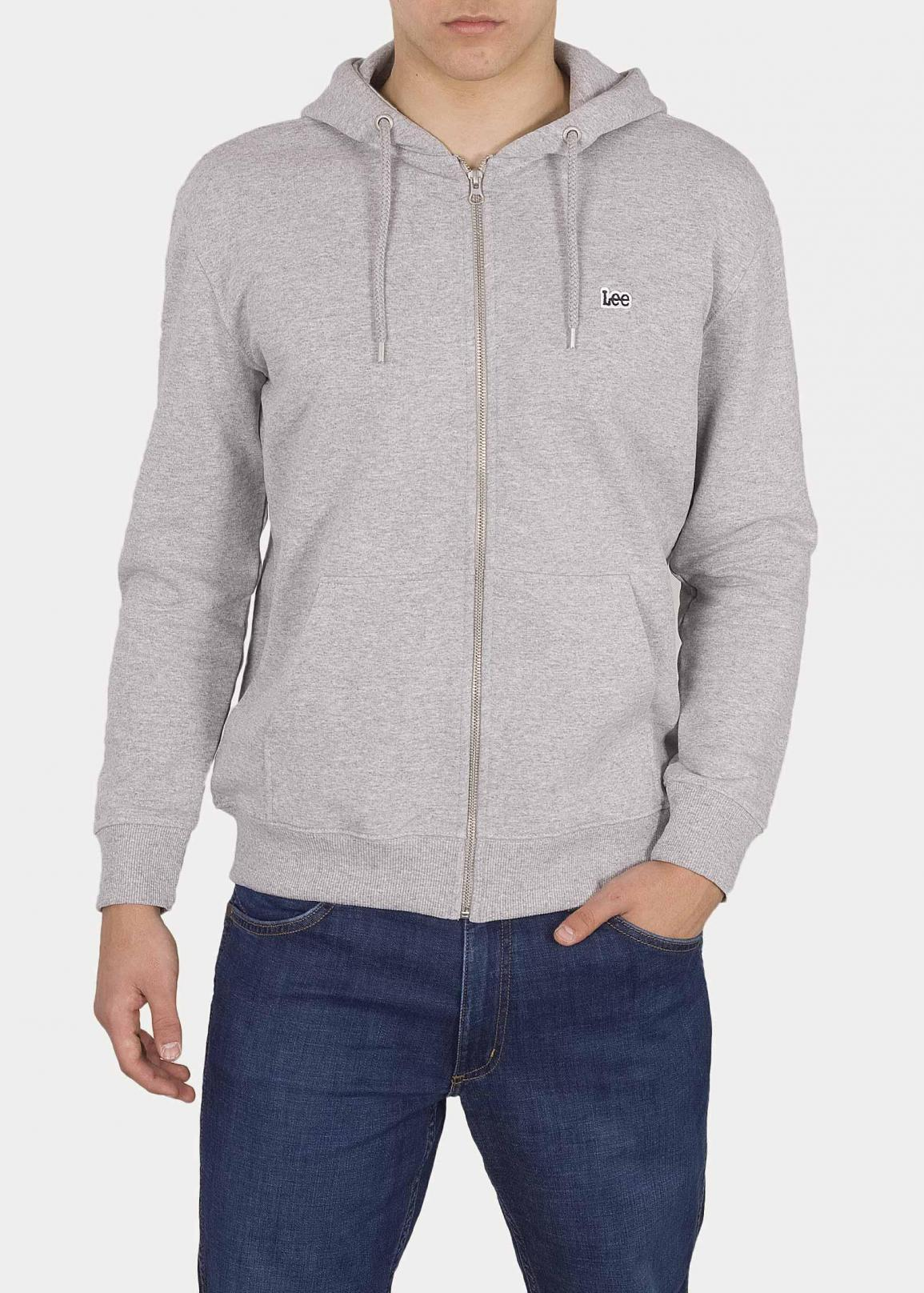 Lee® Basic Zip Throuh Hoody - Grey Mele