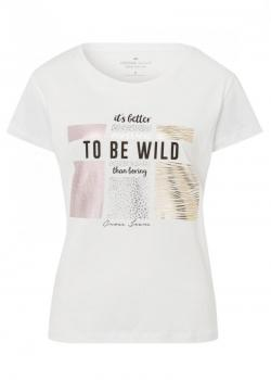 Cross Jeans® Tshirt V-Neck To Be Wild - White