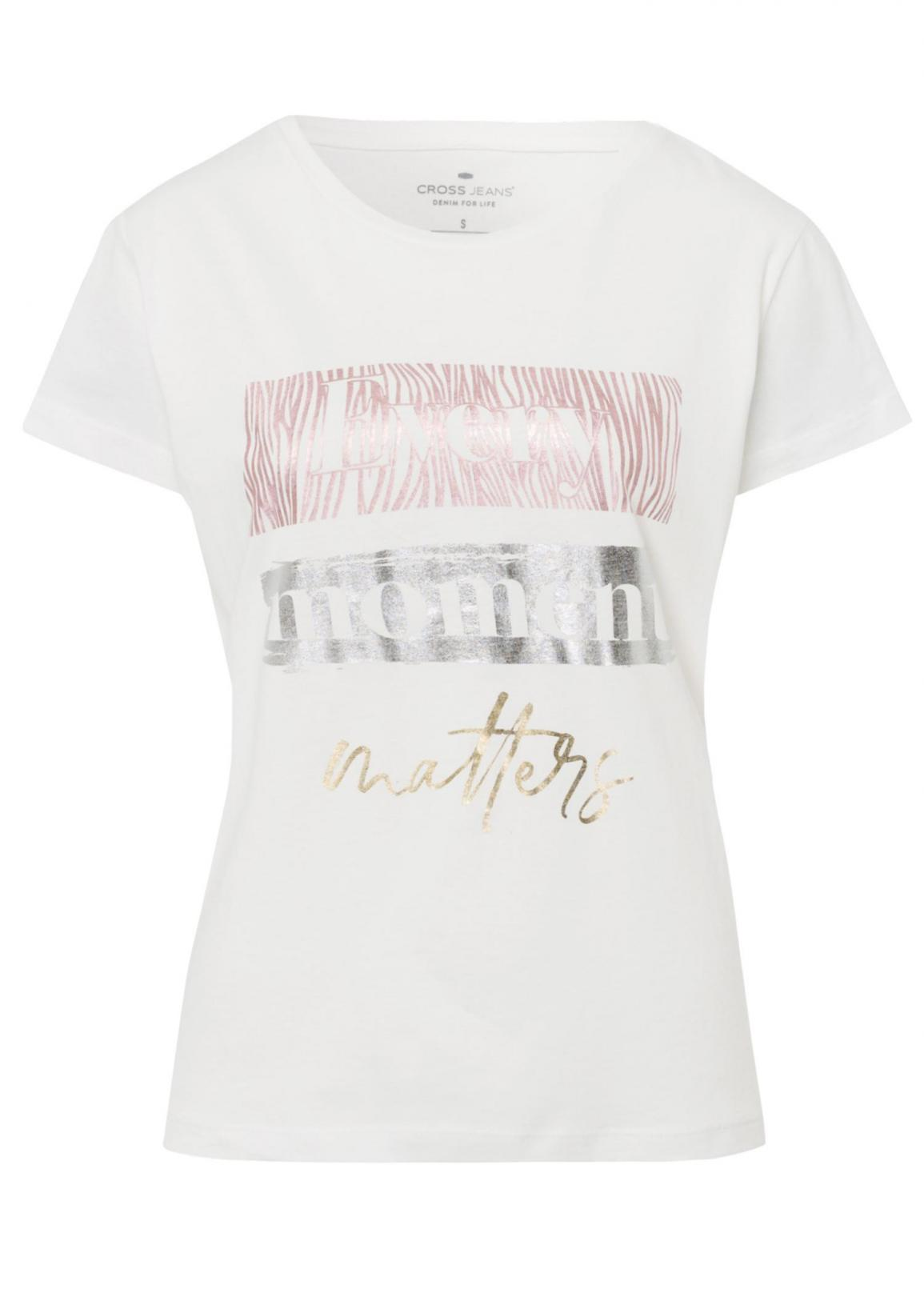 Cross Jeans® T-shirt Every Moment - White