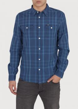 Wrangler® Two Pocket Flap Shirt - Directore Blue