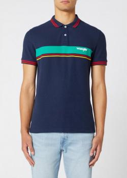 Wrangler® Short Sleeve Colour Block Polo - Navy
