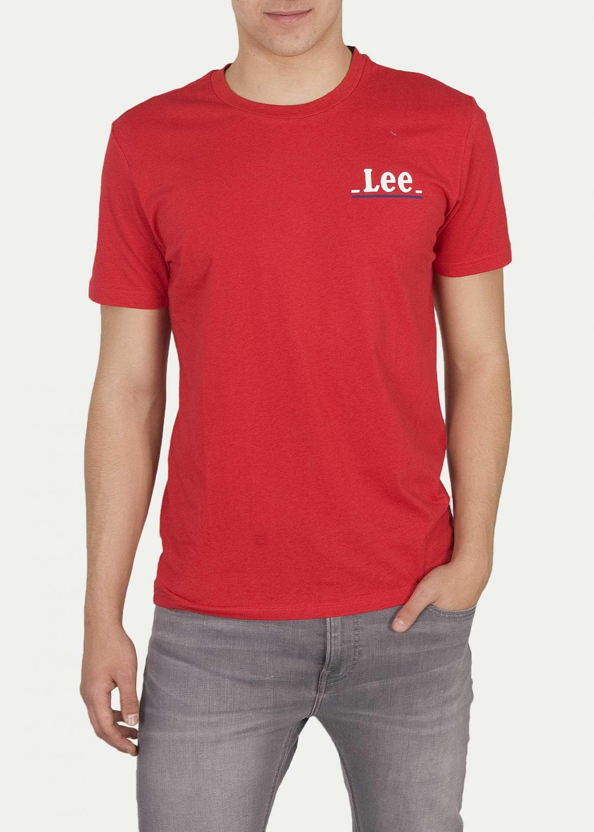 Lee® Small Logo Tee - Bright Red