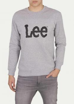 Lee® Basic Crew Logo SWS - Grey Melange
