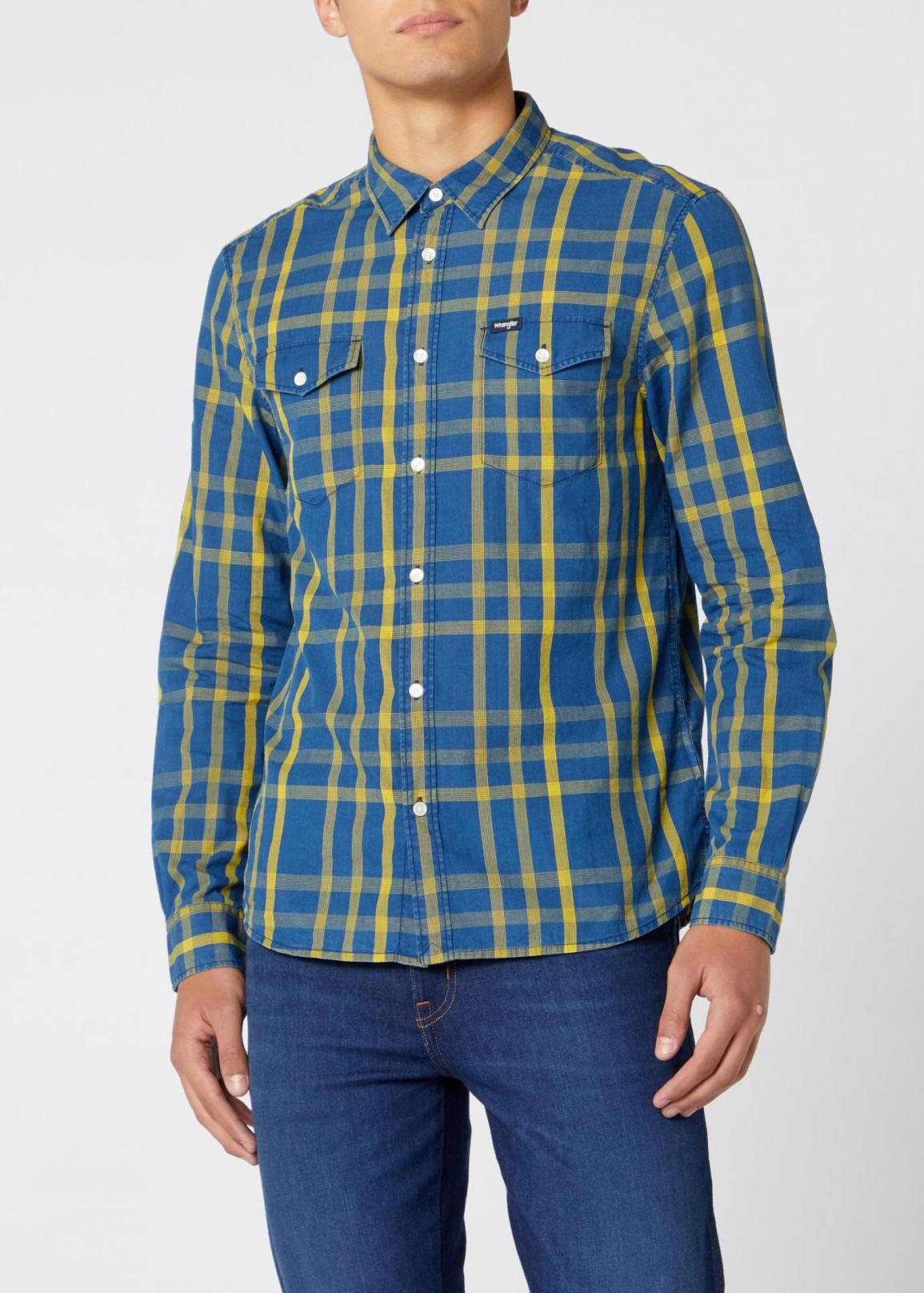 Wrangler® Longsleeve 2 Pocket Flap Shirt - Lemon Chrome