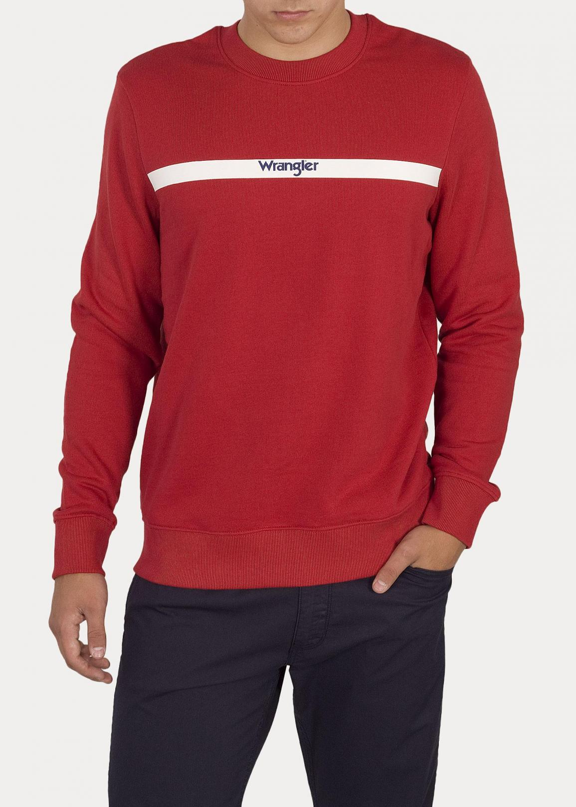 Wrangler® Stripe Logo Sweat - Red