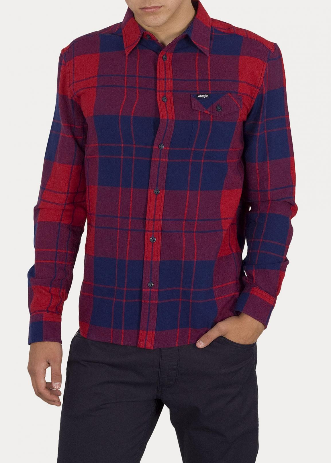 Wrangler® One Pocket Flap Shirt - Red