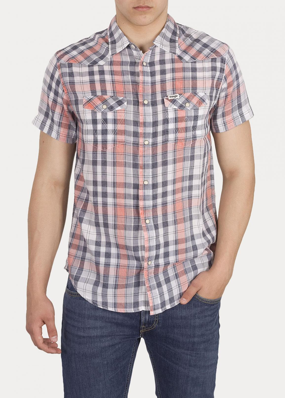 Wrangler® Short Sleeve Western Shirt - Glow Orange