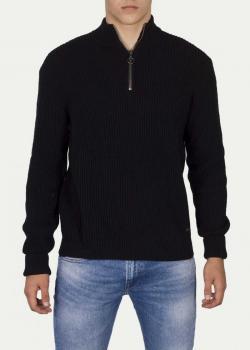 Lee® Half Zip Knit - Pitch Black
