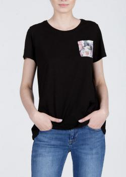 Cross Jeans® T-Shirt 1Pocket Floral - Black (020)