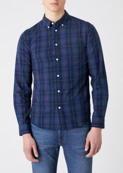 Wrangler® Button Down Shirt - Dark Blue Teal