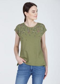 Cross Jeans® T-shirt Floral - Green (002)