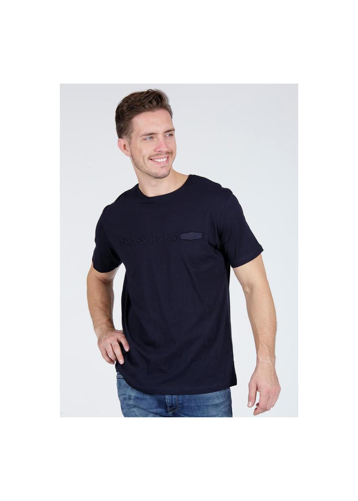 Cross Jeans® T-shirt C-Neck - Navy (001)