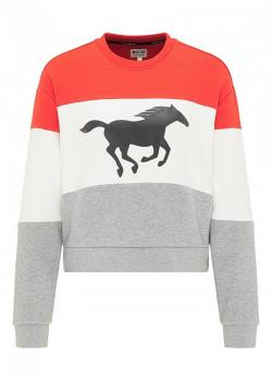 Mustang® Bea Cropped Print - Fiery Red