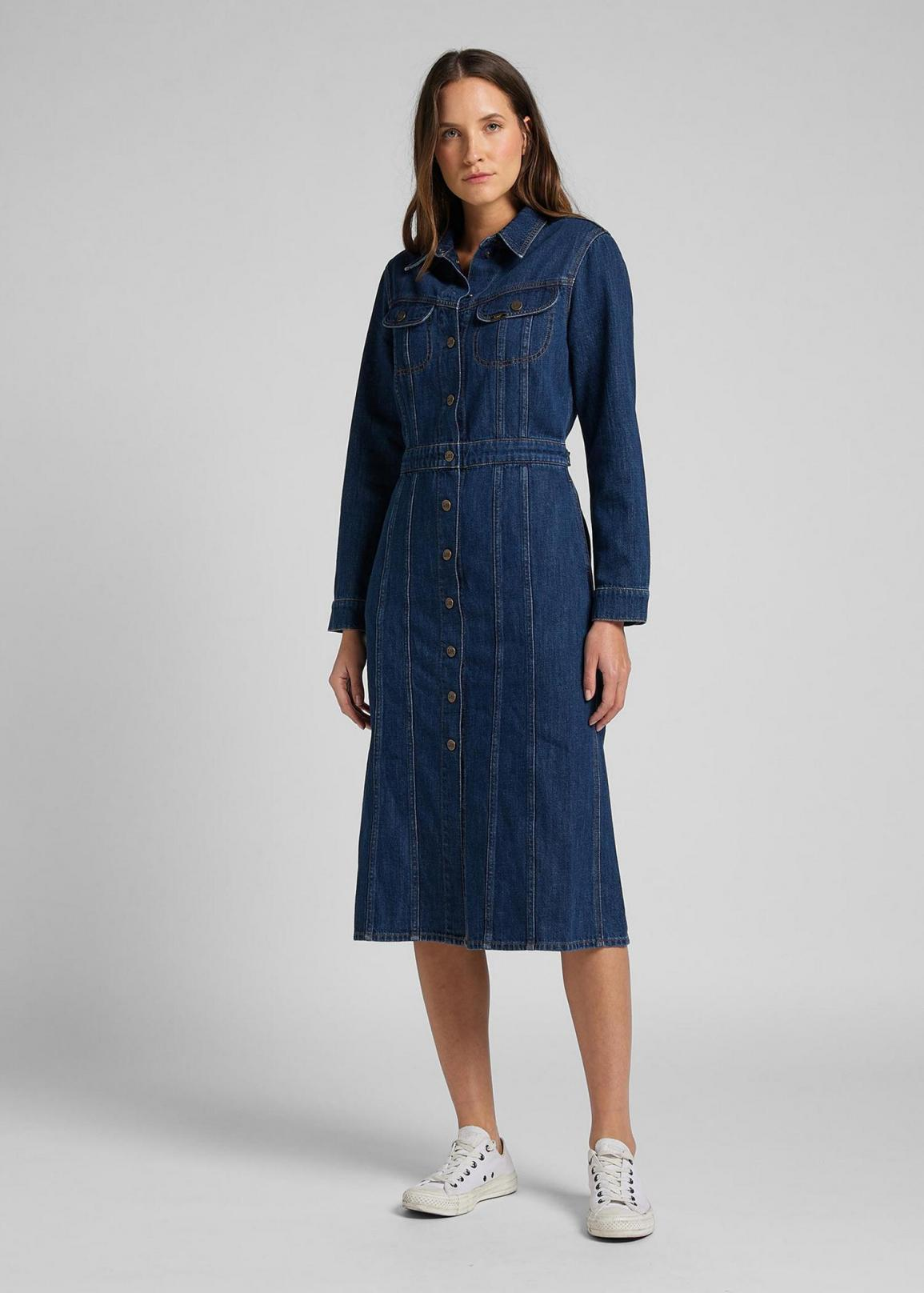 Lee® Longsleeve Dress - Rinse