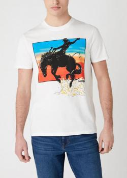Wrangler® Short Sleeve Graphic Horse Tee - Off White