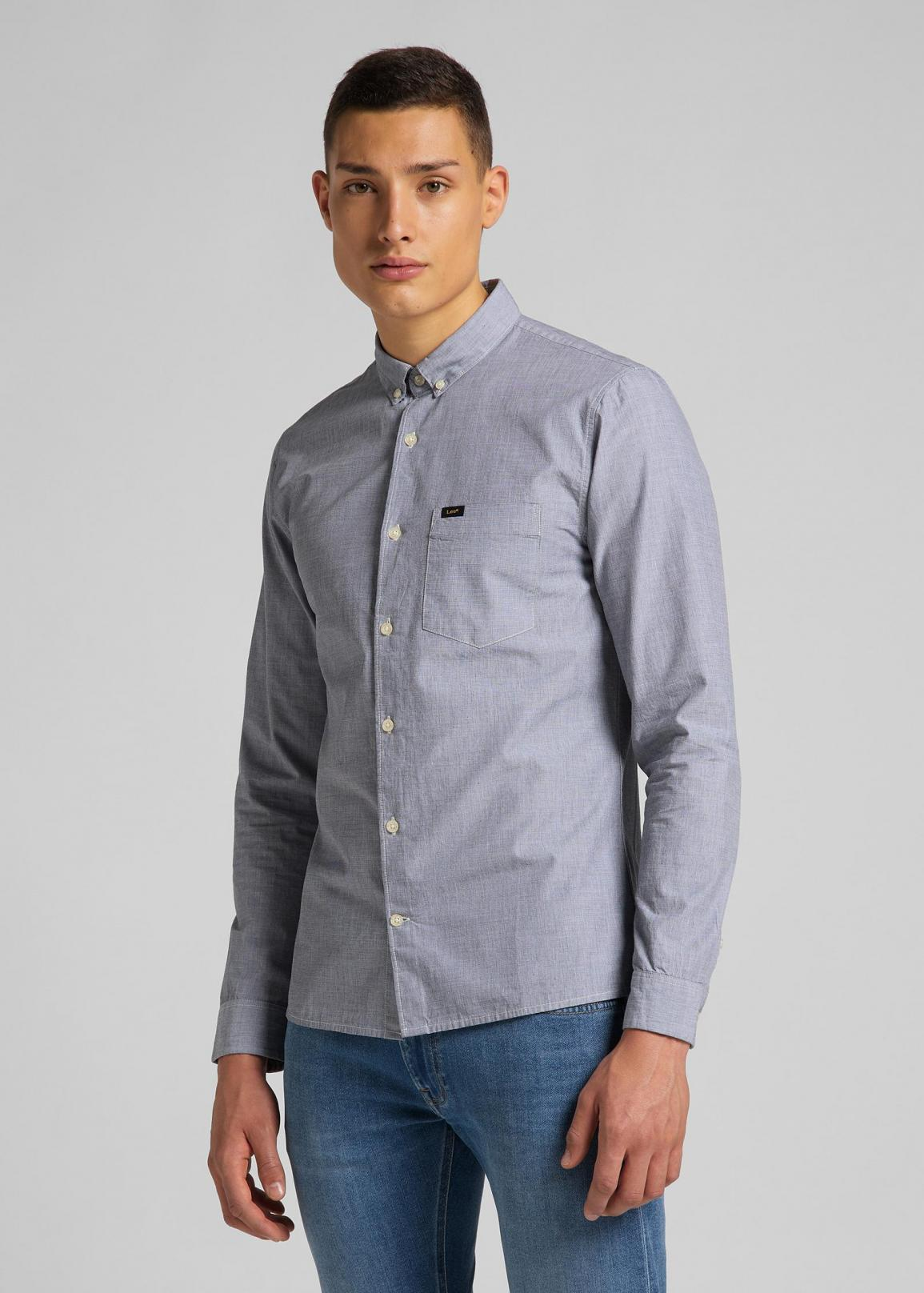 Lee® Slim Button Down - Cloudburst Grey